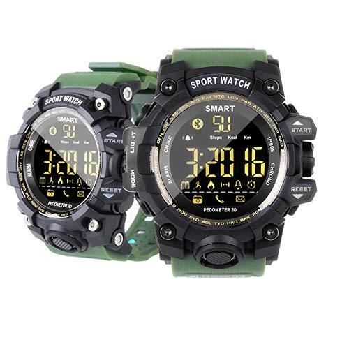 MRSGG Take it easy digital de los hombres reloj deportivo 5ATM impermeable militar reloj de hombre con contador de calorías podómetro podómetro reloj despertador Bluetooth remoto Cámara SMS cal-cian