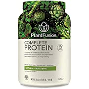 PlantFusion Complete Plant Based Pea Protein Powder, Non-GMO, Vegan, Dairy Free, Gluten Free, Soy Free, Allergy Free w/Digestive Enzymes, Dietary Supplement, Natural, No-Stevia (30 Servings) 2 Pound