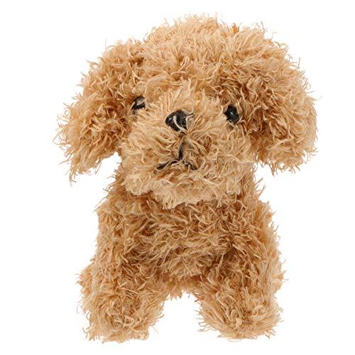 VALICLUD 2 Stück Plüsch Hund Schlüsselanhänger Stofftier Schlüsselringhalter Anhänger für Frauen Mädchen DIY Geldbörse Tasche Hängen Charms Dekoration (Hellbraun)