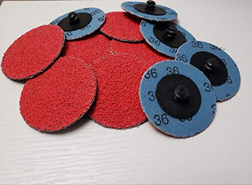 New Random Products Inc 2 80 Grit Type R Plastic Button Ceramic Quick Change Discs 25 Count