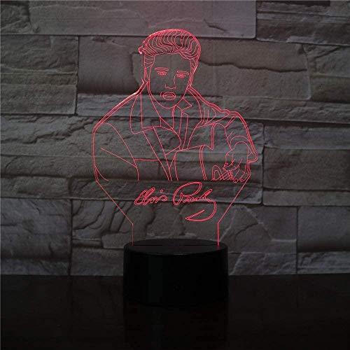 Tatapai Luz nocturna 3D con diseño de cantantes famosos, 16 colores, mando a distancia, cumpleaños, vacaciones, niños, regalo, habitación, decoración, mesa táctil, luz LED creativa, juguete para niños