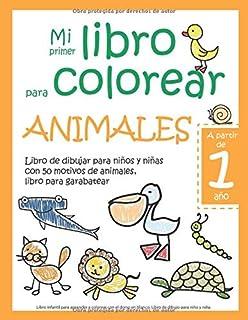 Mi primer libro para colorear ANIMALES — A partir de 1 añ