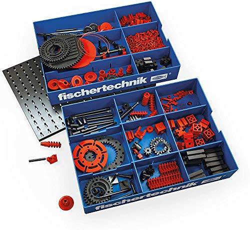 fischertechnik Creative Box Mechanics - eine spezielle Auswahl an Antriebs- und Getriebeelementen - Inhalt: 290 Bauteile, Grundplatte, zwei stapelbare Kunstoffwannen für die geeignete Aufbewahrung