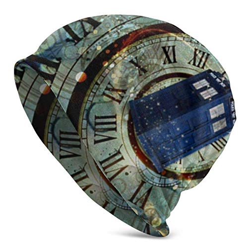 KLR6SYUI-T Doctor Dr Who Police Box Mice Diseño Personalizado Cool Gaming Mousepd Alfombrilla de ratón Mat 12 Slouchy Beanie Hat Thin Baggy Summer Winter Skull Cap para Mujer Hombre