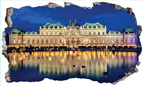 Chicbanners Vienna Belvedere Palace 3D V102 - Adhesivo decorativo para pared (1000 mm de ancho x 600 mm de profundidad)