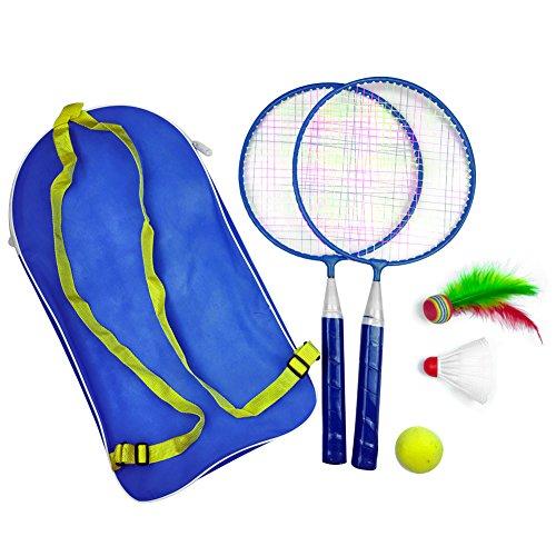 Juego de Raquetas de b/ádminton para Deportes al Aire Libre para ni/ños con 2 Bolas Vbest life Juego de Raquetas de b/ádminton para ni/ños de 1 par
