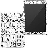 igsticker 第6世代 第5世代 iPad 9.7インチ iPad 6 / 5 2018/2017年 モデル A1893 A1954 A1822 A1823 全面スキンシール apple アップル アイパッド タブレット tablet シール ステッカー ケース 保護シール 背面 015534 服 モノクロ
