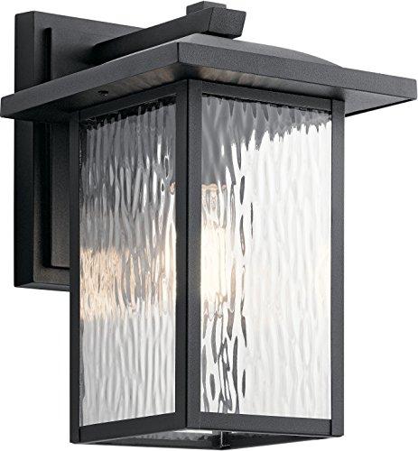 Kichler 49925BKT Capanna Outdoor Wall Sconce, 1-Light 75 Watts, Textured Black