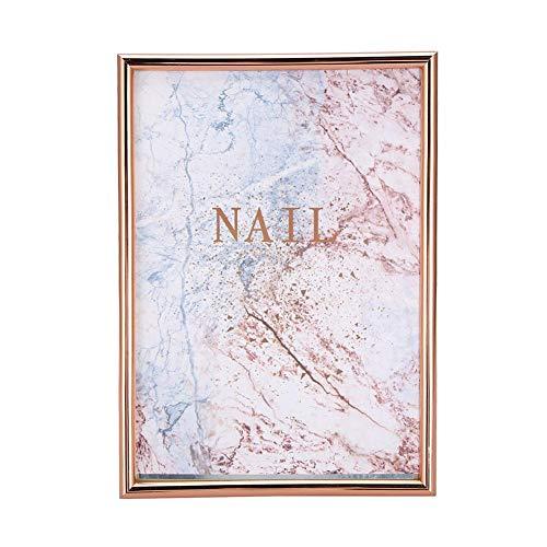 Nail Art Display Board, Nail Art Display Board False Nails Display Holder Professional Nail Art Accessory(Monture en or rose)