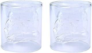 VI AI Double Wall Water Glasses Whiskey Glass Cup Crystal Mug Star Wars Mug 150ML 2 Pack