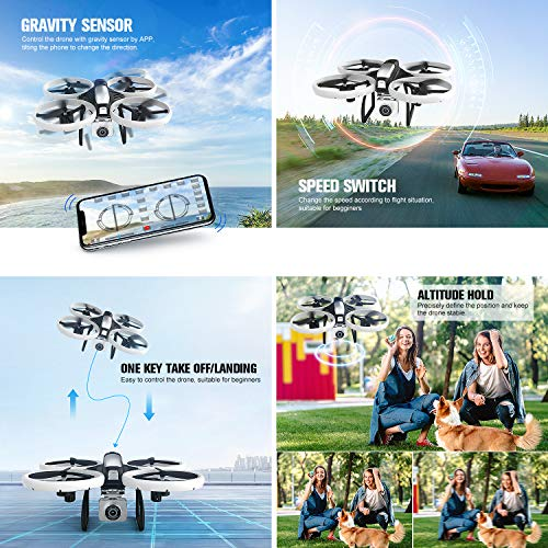 EACHINE-E020-Professional-Drone-with-Camera-4k-for-Adults-WiFi-FPV-Real-Time-Transmission-Trajectory-Flight-13-Minutes-Flight-Time-LED-Protective-Cover-Drone-for-Kids-with-Camera-Anti-shake-Design