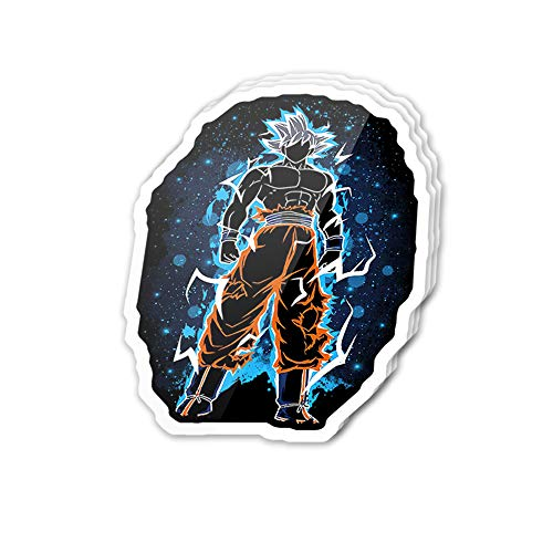 Uitee Store Cool Sticker (3 pcs/Pack,3x4 inch) The Mastered Ultra Instinct Sun Anime Manga Comic Art Stickers for Water Bottles,Laptop,Phone,Teachers,Hydro Flasks,Car