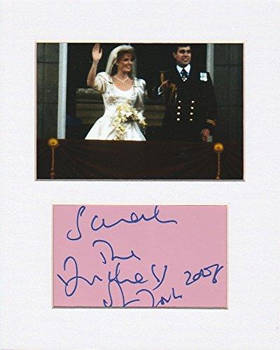 ehemaligen Frau von Prince Andrew, Duke of York–Sarah, Herzogin von York Original Authentic Autogramm AFTAL COA