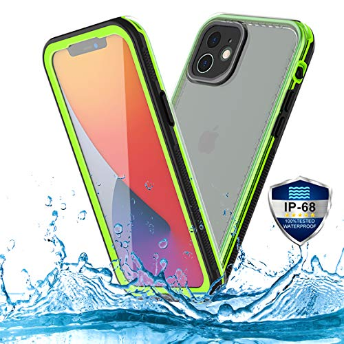 PINGTEKOR Waterproof Case for iPhone 12 Mini,IP68 Full Sealed Snowproof Dustproof Shockproof Heavy Duty Protection Cover with Screen Protector and Translucent Back Cover for iPhone 12 Mini 5.4 Inch