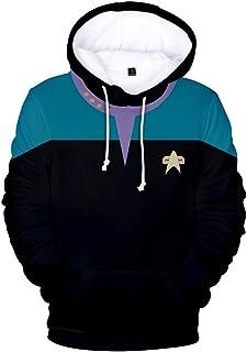 Felpa con Cappuccio Star-Trek Cosplay James T Kirk Spock Felpa con Cappuccio 3D per Bambini e Adulti