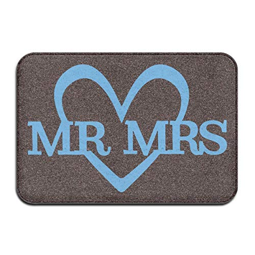 Yaxinduobao Felpudos,Mr. Mrs. Heart Felpudo Sitting Room Door Carpets 50x80cm