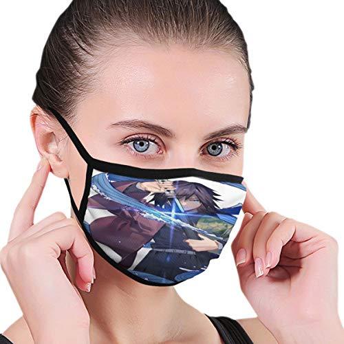 Demo-n Slayer waschbare Maske Bandanas geeignet für Männer, Damen und Kinder Outdoor Aktivitäten Schwarz 8 Einheitsgröße
