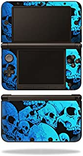 MightySkins Skin Compatible with Nintendo 3DS XL - Blue Skulls | Protective, Durable, and Unique Vinyl Decal wrap Cover | Easy to Apply, Remove, and Change Styles | Made in The USA