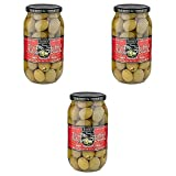 3 Pack Of Tassos All Natural Double Stuffed Jalapeno And Garlic Super Mammoth Olives (3X35.27 oz.)