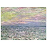 JUNIWORDS Poster, Claude Monet, Sonnenuntergang über dem