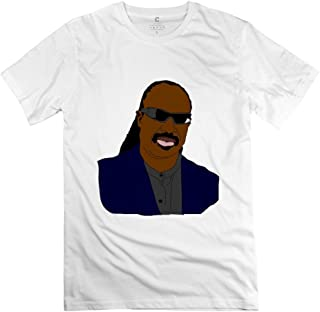 Men's Stevie Wonder Cartoon T-Shirt White