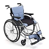 Wheelchairs Wheelchair Propelled Wheelchair Aluminium Wheelchair-Folding Self Propel Wheelchair with Detachable Seat Back Seat, 6 inch Front Wheel, 24 inch Rear Wheel, 100Kg Load, Suitable for the Eld