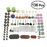 UKCOCO 136 Pz Set di spazzole a filo metallico Ruote per lucidatura Ruote abrasive Kit di ...