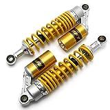 RONSHIN Accesorios para vehículos Suspensión Trasera del Amortiguador de Aire de la Motocicleta para Yamaha Motor Scooter ATV Quad Gold