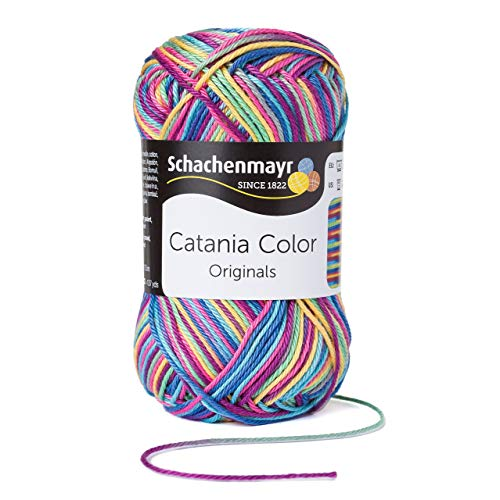 Schachenmayr Catania Color 9801780-00093 afrika Handstrickgarn, Häkelgarn, Baumwolle