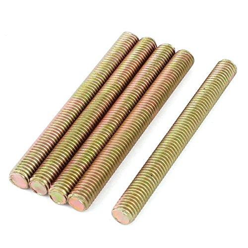 1,25 mm Gewindesteigung M8 x 80mm Metall Vollgewindestange Stab Bronze 5 Stück DE de