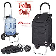 Oversize beefy wheels can easily go over any terrain Large handle with a rubberized grip offers comfy use Holds 110 lb.; weights less than 4 lb. Removable shopping bag with 7 pockets and beverage holder Transport large items by removing the bag