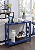 Convenience Concepts Oxford Console Table, Cobalt Blue
