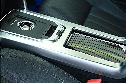 ABS mat Intérieur argenté accessoire de Gear Shift Panneau Bordure Autocollant de voiture pour Discovery Sport 2015 2016 2017