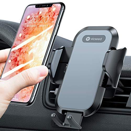 VICSEED Handyhalterung Auto Lüftung, Universal 360 Grad Drehung KFZ Autohalterung für Alle Smartphones iPhone 12 Mini 11 Pro XS Max XR X 8 7 6 Plus,Samsung S21 S20 S10 S9 S8 S7,Huawei usw