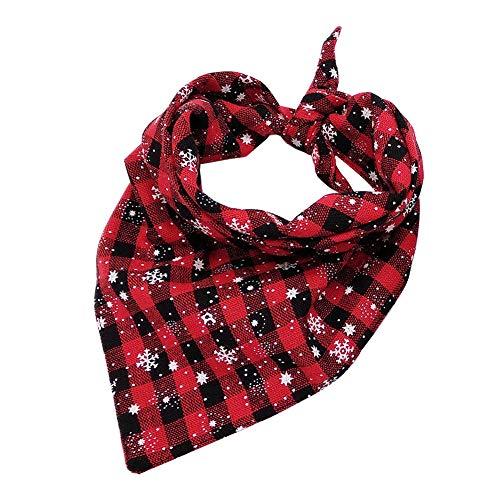 ETbotu huisdier kerst, kostuums voor honden kat - driehoekige sjaal voor huisdier honden dragen rode sneeuwvlok