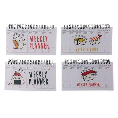 jiamins Schöne dibujos animados Weekly Planner–Cuaderno de espiral Agenda Tiempo Plan Bloc de notas