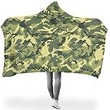 TengmiuXin Weich farblos Hoodie Wearable Super Soft Throw Blanket DASS die Menschen gut schlafen...