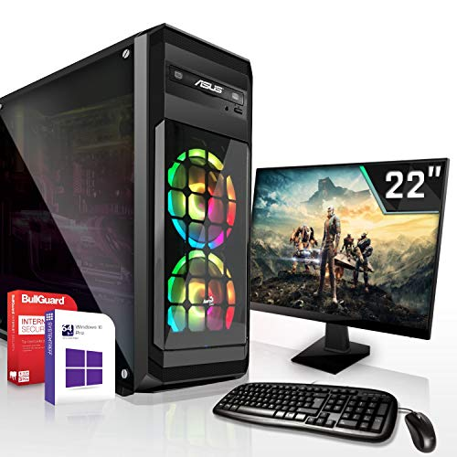 Gaming PC Komplett Set/Multimedia Computer inkl. Windows 10 Pro 64-Bit! - AMD Octa-Core FX-8100 8 x 3.7 GHz - Nvidia Geforce GT 730 mit 4GB DDR3 RAM - ASUS 22 Zoll TFT - 8GB DDR3 RAM - 500GB HDD -