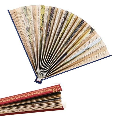 IF Book Fan - Red Fan, páginas de Libros Antiguos