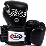 Fairtex Heavy Hitter BGV9 - Guantes de boxeo de estilo mejicano, color negro - negro, tamaño 16 oz.