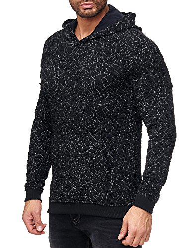 Red Bridge Pullover Herren Kapuzenpullover Sharp Shards Designer Sweatshirt