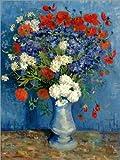 Poster 30 x 40 cm: Vase mit Kornblumen und Mohn von Vincent