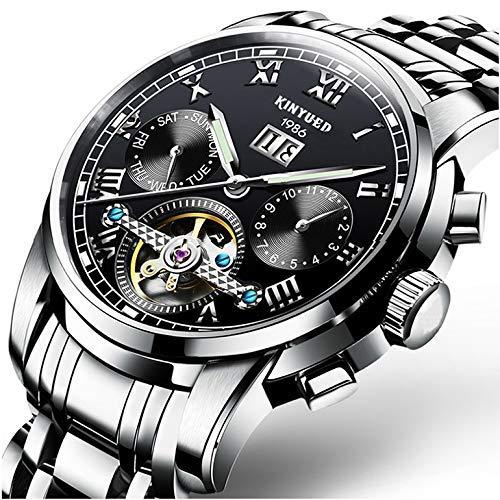 LLDKA horloge mannelijk dubbelzijdig uitgeholde mechanische klok mannelijk tabel automatische waterdicht origineel Swiss Steel Luminous,2