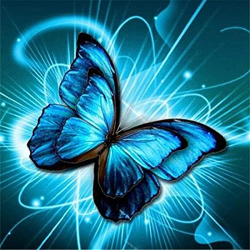 Diy 5D Diamond Painting Kits Full Drill Mariposa Pictures Rhinestone Crystal Canvas Cross Stitch Adults Kids Embroidery Diamond Art Craft For Home Living Bedroom Wall Decor Gift 30x30cm(12x12in)