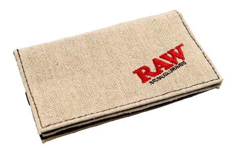 RAW Tabaktasche 155x90mm Gummiband Smoker Wallet 2 Fächer Rolling Pouch