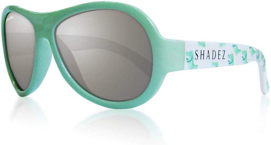 Shadez - Gafas de sol para niños, protección contra los rayos UVA y UVB, talla Baby – Verde con cocodrilos – 30 g