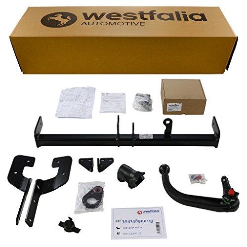 Westfalia Abnehmbare Anhängerkupplung - AHK für Citroen DS4 (inkl Crossback) (ab BJ 04/2011), Citroen C4 Limousine (ab BJ 11/2010) im Set mit 13-poligem fahrzeugspezifischen Westfalia Elektrosatz