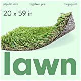 MEGAGRASS Popular Size 20 x 59 Inches Lawn Pro - Indoor and Outdoor Artificial Grass and Synthetic Fake Turf Rug for Lawn Landscaping, Patio, and Backyard, 8 Square Ft