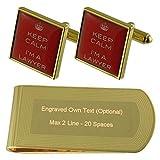 Select Gifts Abogado Abogado Rojo Gemelos de Oro-Tono Money Clip Grabado Set de Regalo
