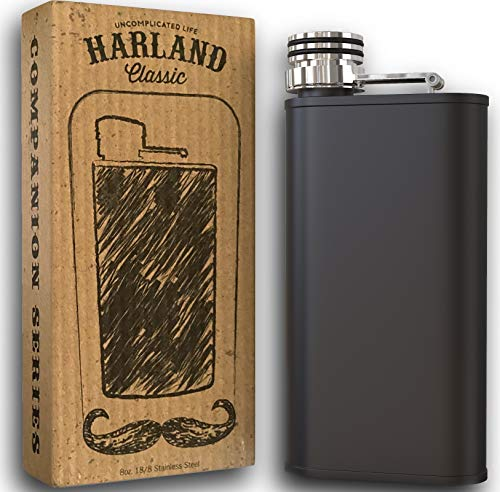 Harland Wide Mouth 8 Ounce Stainless Steel Best Hip Flask